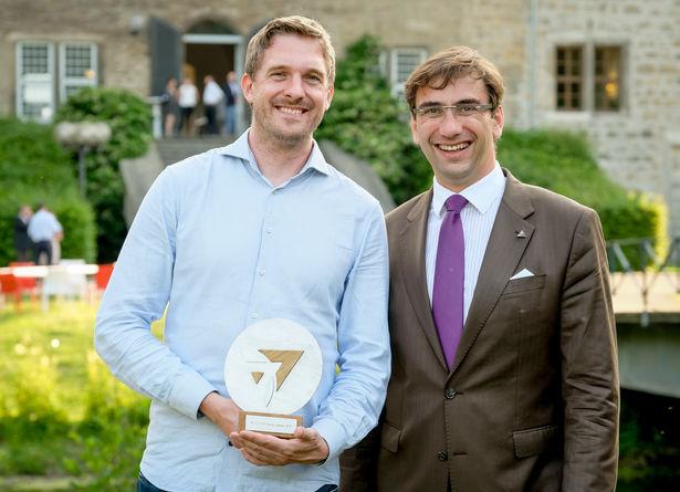 16. Zukunftskongress des 2b AHEAD ThinkTanks: Future-Award Gewinner, Alexander Rohr, und Sven Gabor Janszky